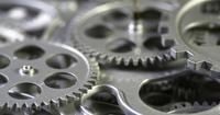 Mecanismo de engrenagens de metal de close up