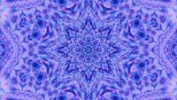 Parpadeo neón puntos estrella caleidoscopio 3d ilustración vj lazo