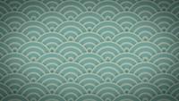 Abstrakter japanischer Muster-Verzierungs-Hintergrundclip
