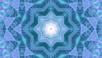 Star shaped neon dots 3d illustration vj loop