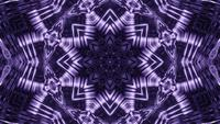 Abstract star mandala in star shape 3d illustration vj loop