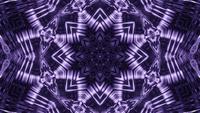 Mandala estrella abstracta en lazo de vj de ilustración 3d de forma de estrella