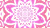 Glowing bright star kaleidoscope mandala 3d illustration vj loop