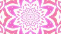 Brillante estrella brillante caleidoscopio mandala ilustración 3d vj lazo