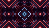 Abstract Digital Kaleidoscopic Background Neon Polygon