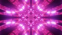 Abstract red tunnel kaleidoscope mandala 3d illustration vj loop