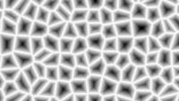 Formes de formes abstraites mosaïques simples en boucle transparente