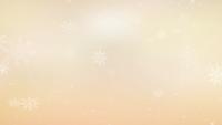 Weißer Schnee, der auf pastellgelben Hintergrund fällt