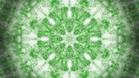 Green abstract smoke, dust or fog kaleidoscope