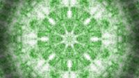 Groene abstracte caleidoscoop van rook, stof of mist