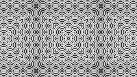Abstrakt japansk konst deco kalejdoskopisk mönster ornament bakgrund