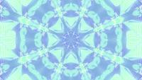 Green color changing abstract art kaleidoscope 3d illustration