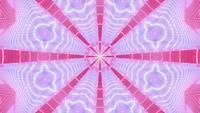 Star shaped abstract kaleidoscope 3d illustration vj loop
