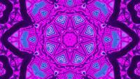 Movimiento rápido formas abstractas 3d ilustración caleidoscopio dj loop