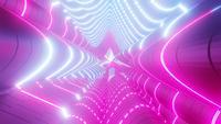 Kleur veranderende neon blauw en roze tunnel 3d illustratie vj lus