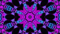 Abstract glowing shapes mandala pattern 3d illustration vj loop