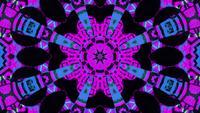 Resumen formas brillantes mandala patrón 3d ilustración vj lazo