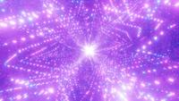 Glowing particles space galaxy wormhole 3d illustration vj loop