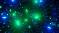 Glowing neon glass tunnel color changing 3d illustration vj loop