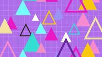 Retro-stijl 80s geometrie patroon driehoek