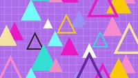 Retro style 80s geometry pattern triangle