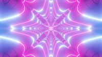 Color changing abstract pink and blue neon tunnel