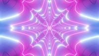 Kleur veranderende abstracte roze en blauwe neontunnel