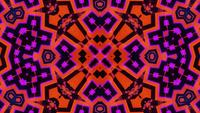 Blinking abstract neon kaleidoscope mandala pattern