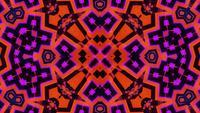 Blinkendes abstraktes Neonkaleidoskop-Mandalamuster