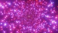 Bright glowing neon lights sci-fi tunnel 3d illustration vj loop