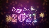 Gelukkig nieuw jaar 2021 Viering achtergrond