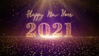 Gelukkig Nieuwjaar 2021 deeltje viering achtergrond