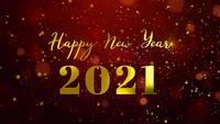 2021 und frohes neues Jahr. bunt explodierendes Feuerwerk. 2021 frohes neues Jahr.