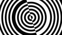 Abstract black and white hypnotize circle