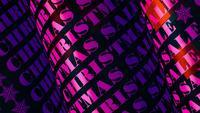 Weihnachtsverkauf 3D Pink Tube Text Loop Animation
