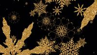 Gouden sneeuwvlok geïsoleerd met alfakanaal