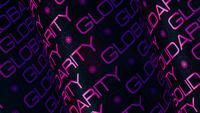 Globale Solidarität Purple Letters Tube