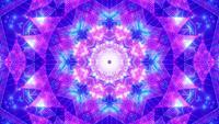Glowing Light Effect Neon Dots Kaleidoscope