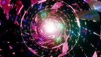 Leuchtende Partikel oder Linseneffekte 3D Illustration Vj Loop