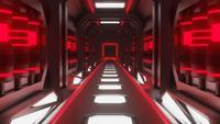 Red Neon Hallway Loop Animation
