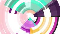 Círculos de patrón abstracto