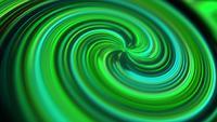 Ligne de décalage en spirale verte allant au point central