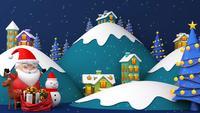 Der Weihnachtsmann ist bereit, einigen Dörfern seine Geschenke zu geben