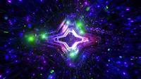 Farbwechsel Raum Galaxie Partikel 3D-Illustration