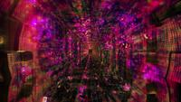 Colorful Lights Effects Neon Dots Space Tunnel