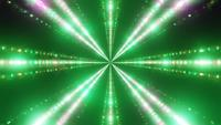 Green Blinking Neon Tunnel 3D Illustration VJ Loop