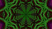 Lazo de vj de ilustración 3d de estrella de neón de color verde radar