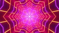 Abstract neon star glowing 3d illustration vj loop