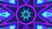 Glowing abstract color changing star 3d illustration vj loop