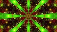 Green Red Blinking kaleidoscope 3d illustration vj loop